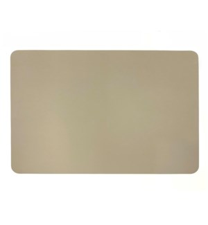 Studio Leather Rectangle Placemat Stone
