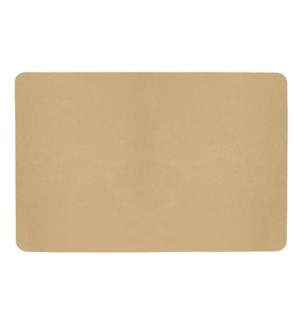 Studio Leather Rectangle Placemat Champagne