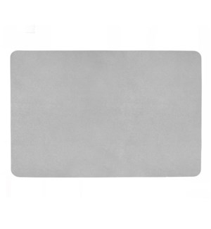 Studio Leather Rectangle Placemat Silver