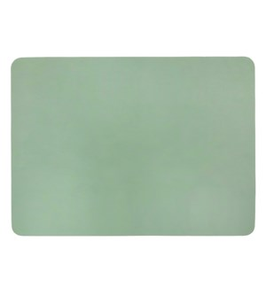 Studio Leather Rectangle Placemat Soft Teal