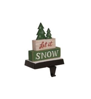 Let It Snow Stocking Holder Multi