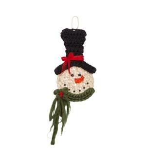 Knit Snowman Wall Art Multi