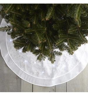 LED Tree Skirt White