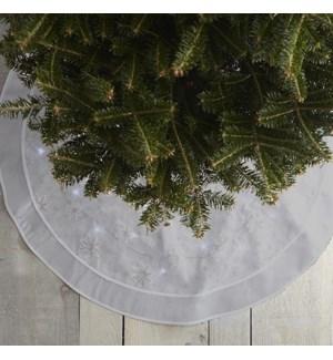 LED Tree Skirt Silver