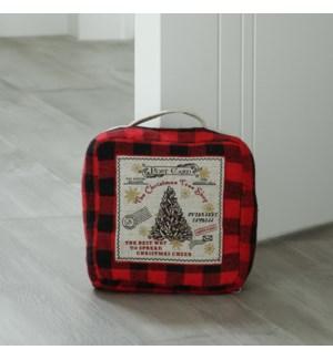 Christmas Tree Farm Door Stop Red/Black