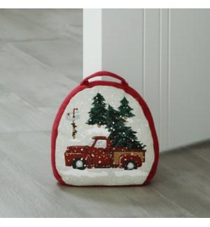Vintage Christmas Door Stop Red