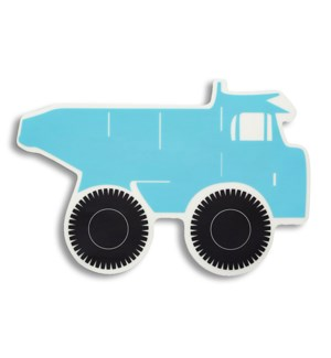 Truck Kiddo Die Cut Soft Touch Placemat Blue