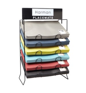 6-Tier Placemat Rack Black