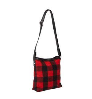Buffalo Check Cross Body Bag Red/Black