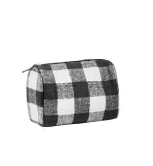 Buffalo Check Travel Bag Black/White