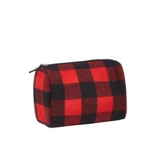 Buffalo Check Travel Bag Red/Black