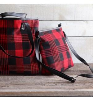 Buffalo Plaid Cross Body Bag Red/Black