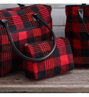 Buffalo Plaid Travel Bag Red/Black