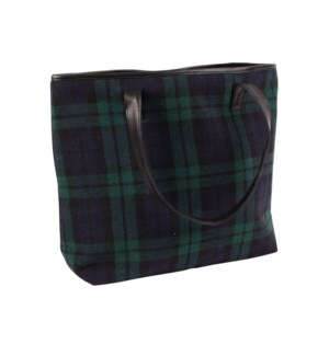 Northern Check Tote Green/Blue