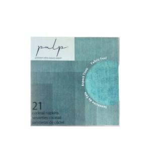 Volume 1 Cocktail Napkin 21 pc Turquoise