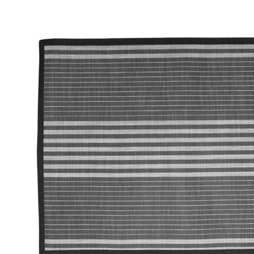 Linen Stripe Black