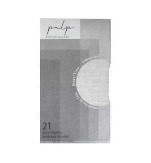Volume 1 Guest Napkin 21 pc Silver