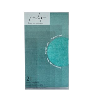 Volume 1 Guest Napkin 21 pc Turquoise