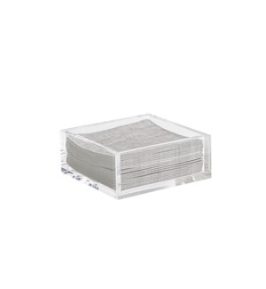 Infinity Napkin Holder Cocktail  Clear