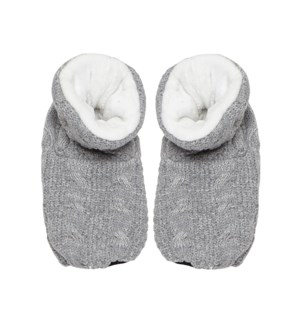 Knitted Warming Bootie Grey
