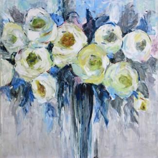 Azure Blooms GALLERY WRAP