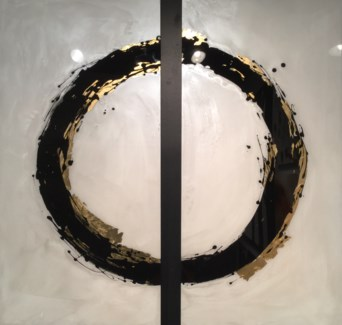 Enso II - Reverse Painted Lucite