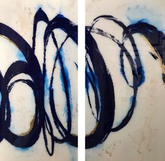Spirazul - Reverse Painted Lucite