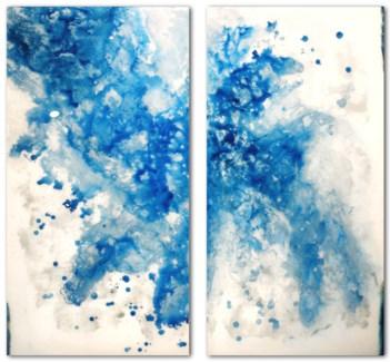 Esplosione Celeste- Reverse Painted Lucite
