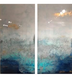Celestine - Reverse Painted Lucite