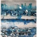 Blu Dye - Reverse Painted Lucite