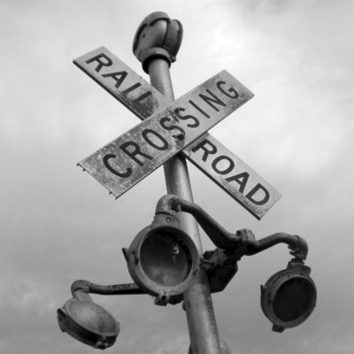 Crossing - Printed on Brushed Aluminum