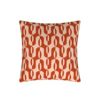 "Acoma - Tangerine -  Toss Pillow - 26"" x 26"""