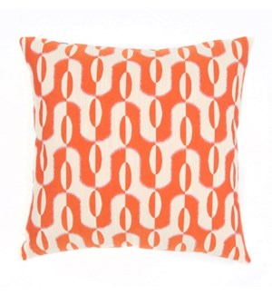 "Acoma - Tangerine -  Pillow - 22"" x 22"""