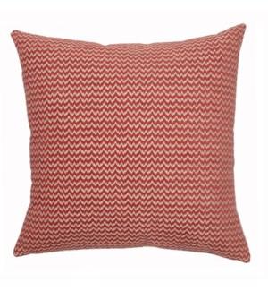 """Bergen - Coral -  Pillow - 22"""" x 22"""""""