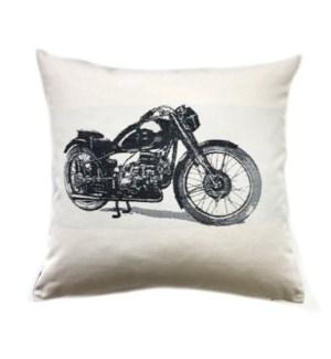 Biker Black Pillow