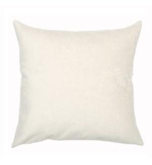 """Bismarck - Snow -  Pillow - 22"""" x 22"""""""