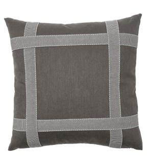 Bradford Tape Pillow - Graphite