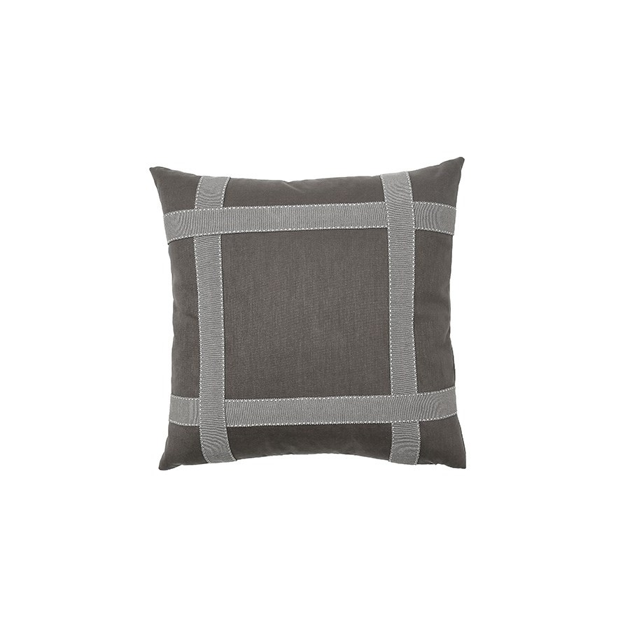 Bradford Tape Pillow - Graphite