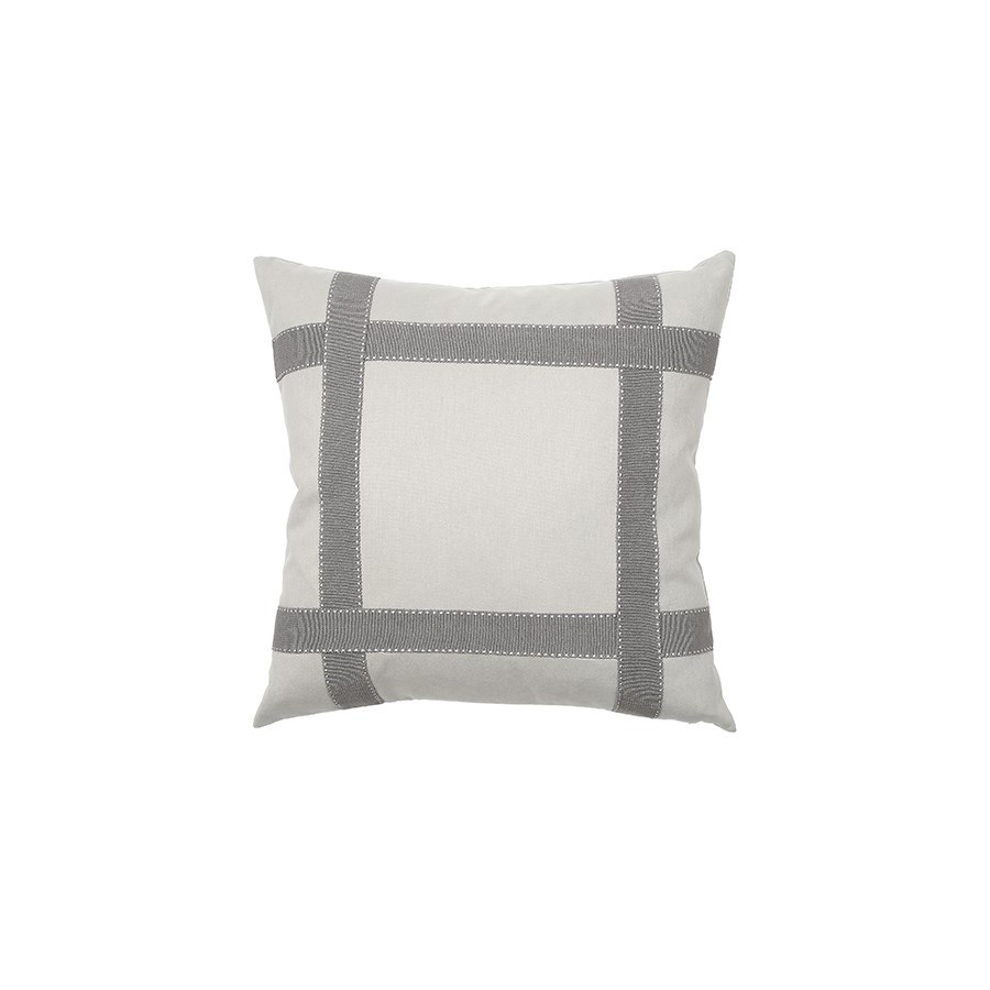 Bradford Tape Pillow - Mica