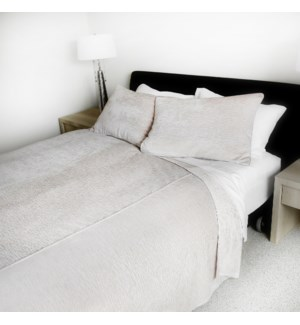 Canterbury - Pearl Grey -  Coverlets