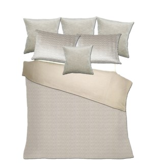 Caslav - Feather / Canterbury - Pearl Grey Bedset - King