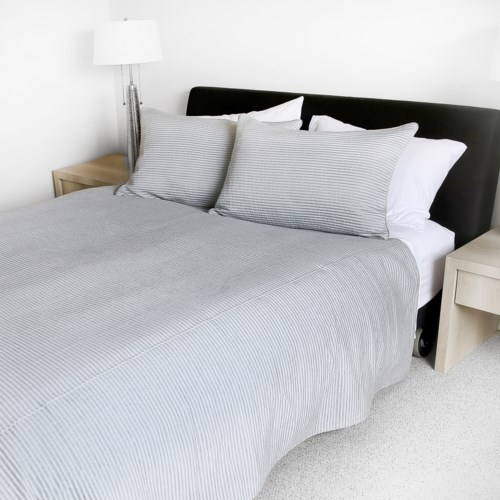 Cavendish - Silver -  Coverlets