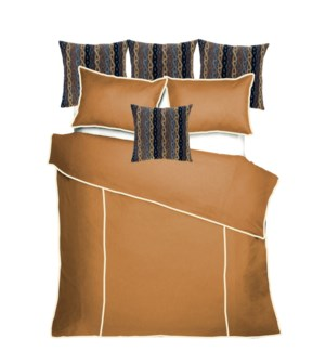 Churchill Linen - Bronze with Ivory Bedset - King