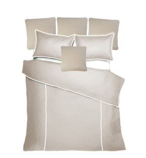 Churchill Linen - Flax with Ivory Bedset - King