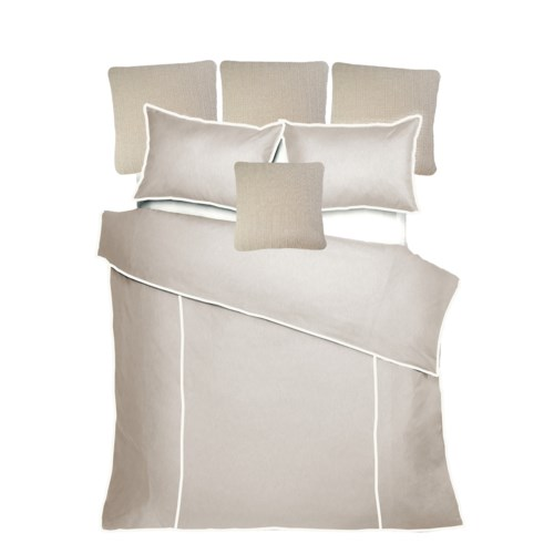 Churchill Linen - Flax with Ivory Bedset - Queen