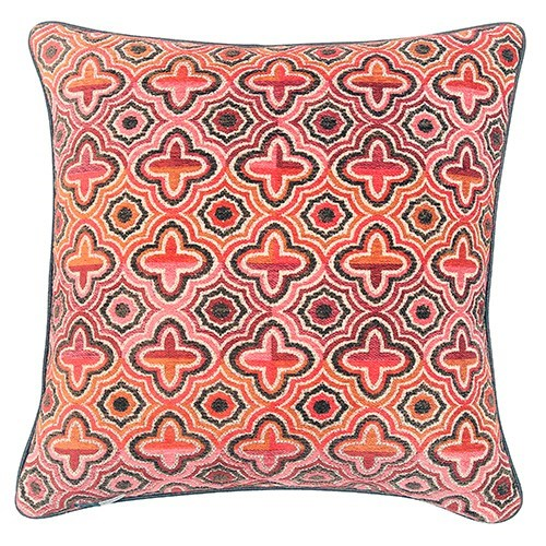 Faux Leather Piping Pillow - Trondheim