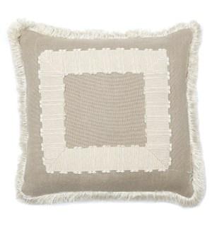 Frame Pillow with Fringe - Aurora Natural