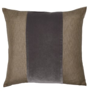 "Franklin Velvet - Anchovy -  BAND Pillow - 22"" x 22"""