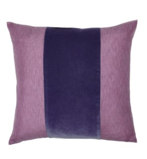 "Franklin Velvet - Aubergine -  BAND Pillow - 22"" x 22"""