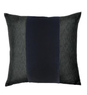 "Franklin Velvet - Black -  BAND Pillow - 22"" x 22"""